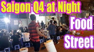 Street Food in District 4 Saigon Vietnam 2017