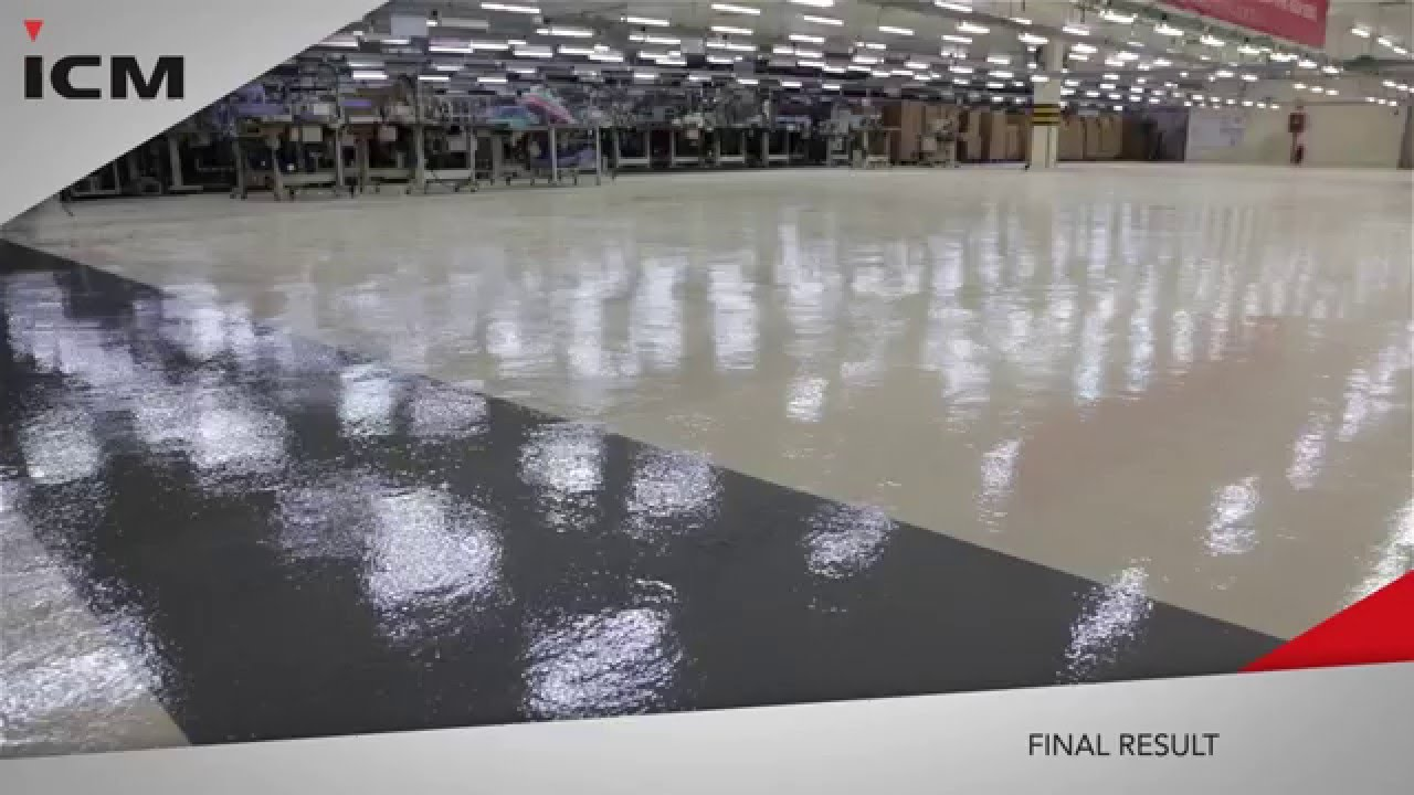 Epoxy Floor Application For Factory