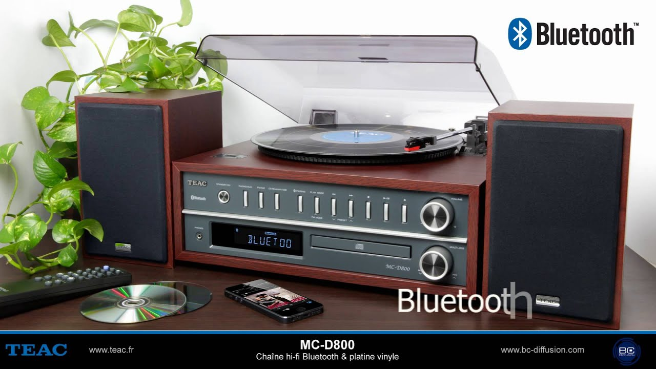 teac mc d800 chaine hi fi bluetooth platine vinyle youtube. Black Bedroom Furniture Sets. Home Design Ideas