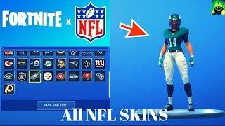 Voir les 33 NFL Skins Fortnite