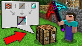 Minecraft NOOB vs PRO: NOOB COMBINED THIS ITEM AND GET ULTRA NEW PICKAXE? Challenge 100% trolling