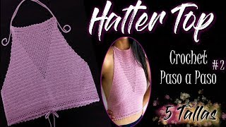 HALTER TOP / CROP TOP |Tejido a Crochet Paso a Paso y En Todas Las Tallas | Ref. #2