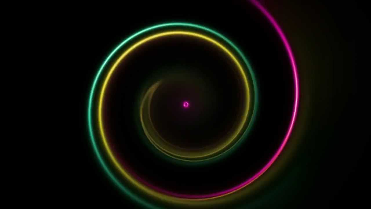 Beautiful Vortex of Twirling Color Lights - after effects + Optical Flares