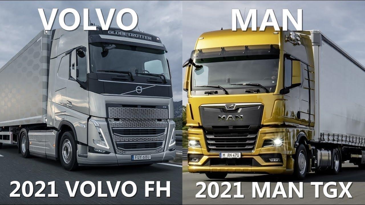 2021 man tgx vs 2021 volvo fh trucks