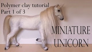 Polymer Clay Horse / Unicorn Tutorial Pt. 1 - (Head)