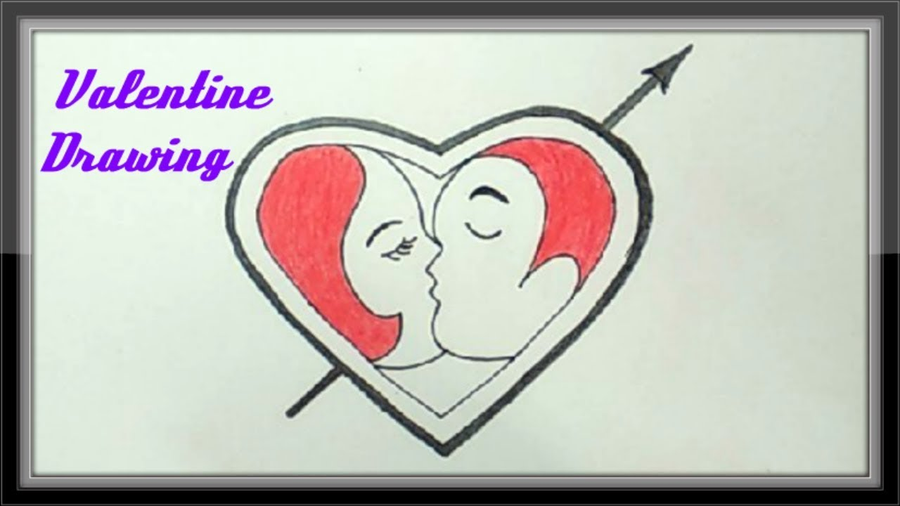 Valentine Art And Drawing Ideas How To Draw A Cute Heart Youtube