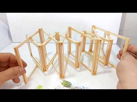 DIY! Useful Diy Ideas -Make a photo frame with ice cream sticks - 아이스크림 스틱으로 사진 프레임 만들기
