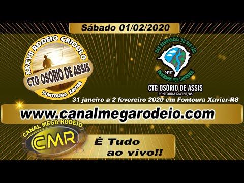 Abertura Oficial - XXXVII Rodeio Crioulo CTG Osório de Assis, Sábado 01/02/2020 Fontoura Xavier -RS.