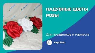 Надувная пневмогирлянда Розы, надувные цветы с эффектом раскрытия, производитель АэроМир