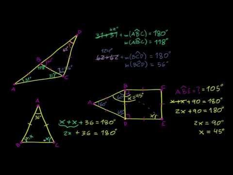 Exemplo de Problemas com Triângulos Equiláteros e Isósceles