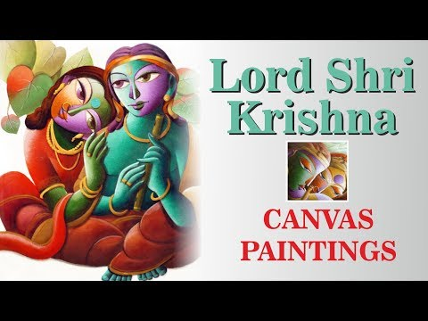 Lord Buddha 3d Live Wallpaper Canvas Paintings Lord Krishna Contemporary Paintings Youtube