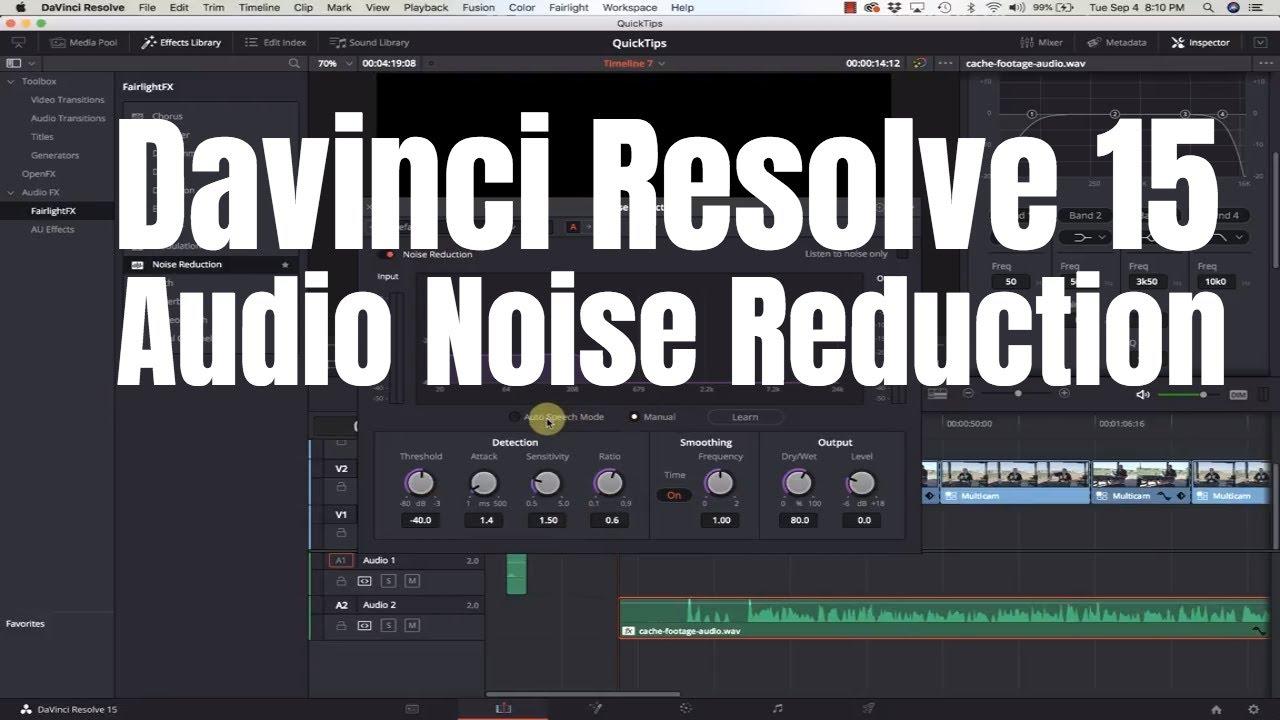 Davinci Resolve 15 - Audio Noise Reduction