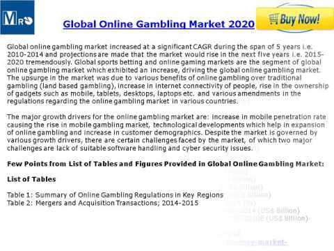MRO: Global Online Betting Market: Trends and Opportunities (2015-2020)