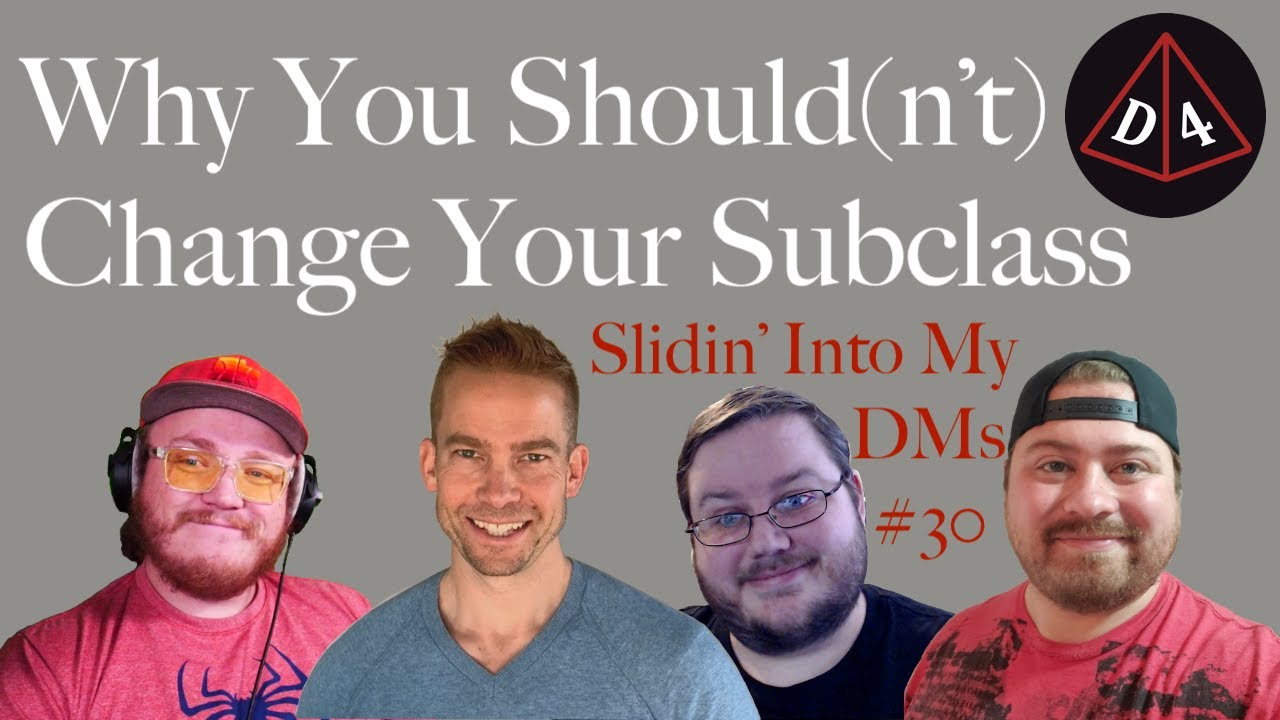 Why You Should(n't) Change Your Subclass - Slidin' Into My DMs #30