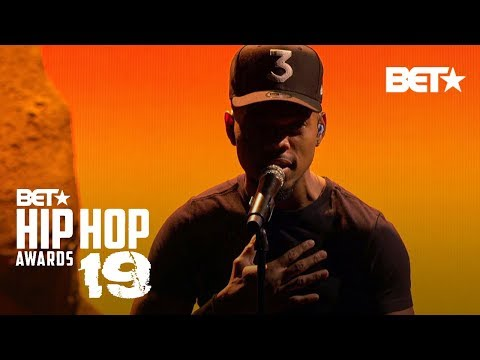 Romeo Valentine - Chance The Rapper Performs 'Sun Come Down' at BET Hip Hop Awards 19