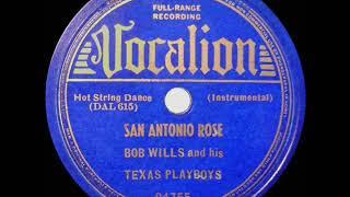 1st RECORDING OF: San Antonio Rose - Bob Wills (1938 instrumental)