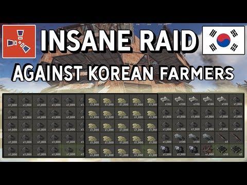 Rust - INTENSE ONLINE RAID AGAINST THE RICHEST KOREAN FARMERS (INSANE LOOT) thumbnail