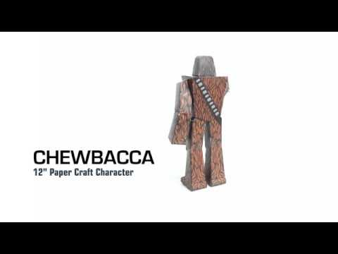 "Star Wars - Chewbacca 12"" Paper Craft 360 Degree View"