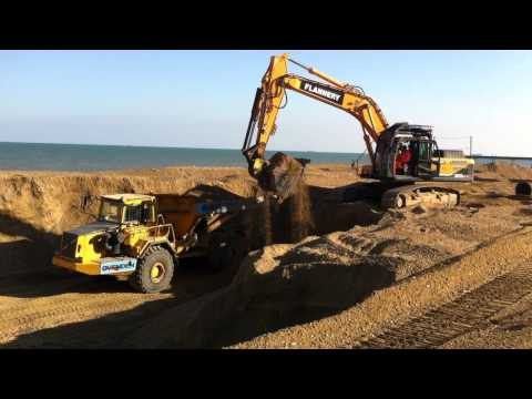 Deal Beach - preparing the beach for arrival of dredged material