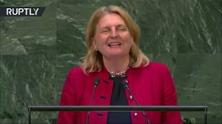 Austria&#39s Karin Kneissl surprises UN General Assembly with welcoming speech in Arabic