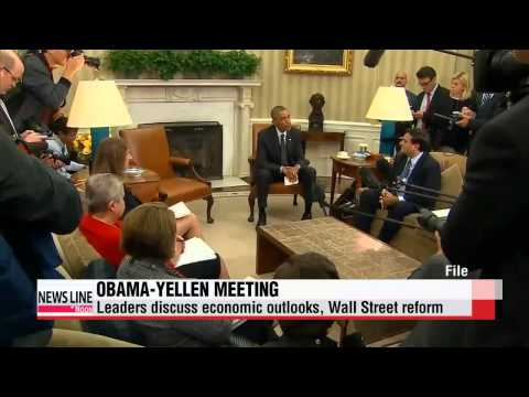 Obama discusses economy, Wall Street reforms with Fed chair   오바마-옐런 월스트리츠 개혁 논의