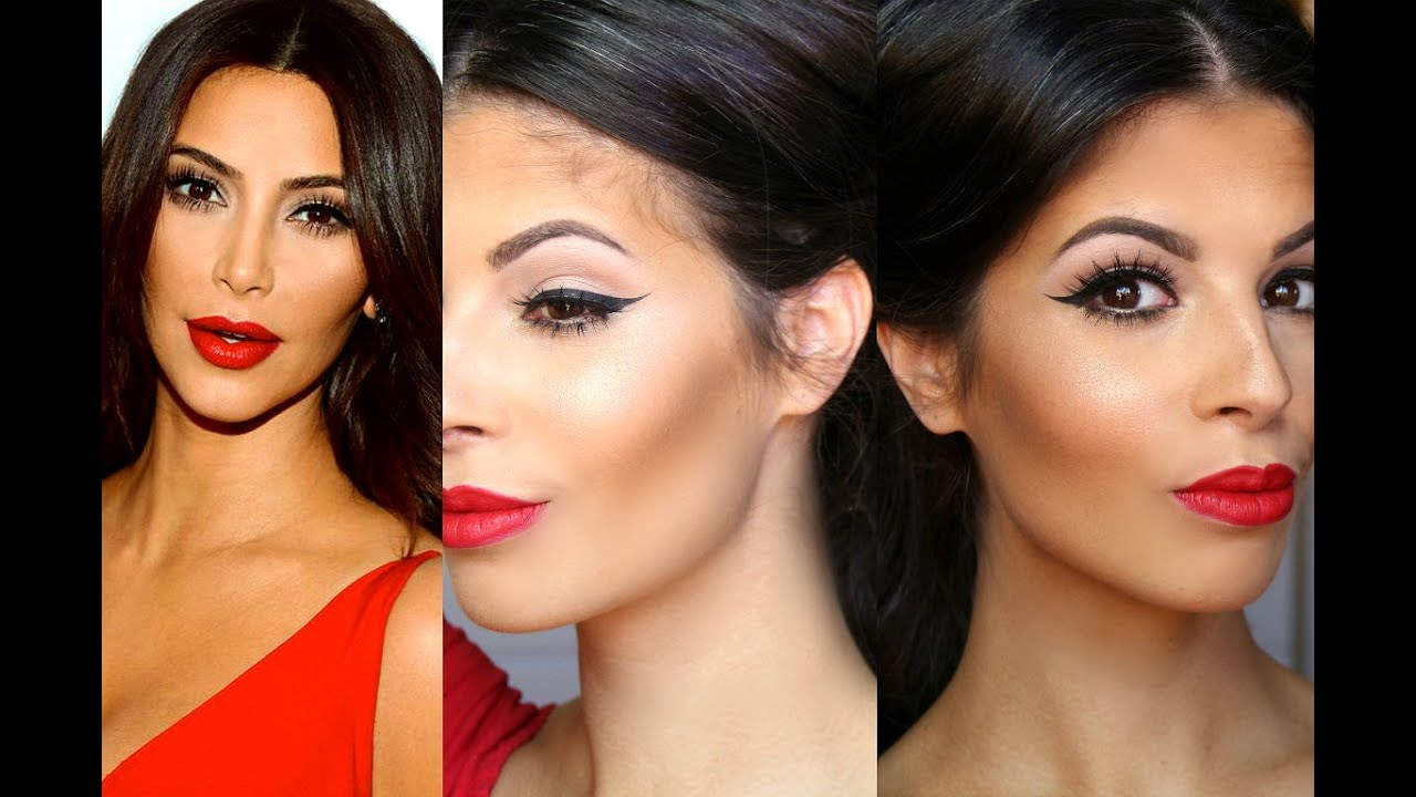 how to wear red lipstick with thin lips