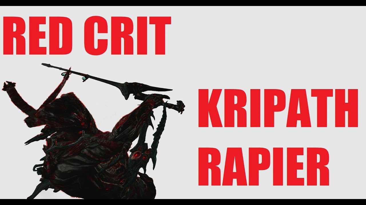 Warframe Plague Kripath Red Crit Rapier Zaw l Heart Of ...