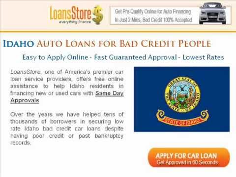 Auto Loans For Bad Credit In Idaho
