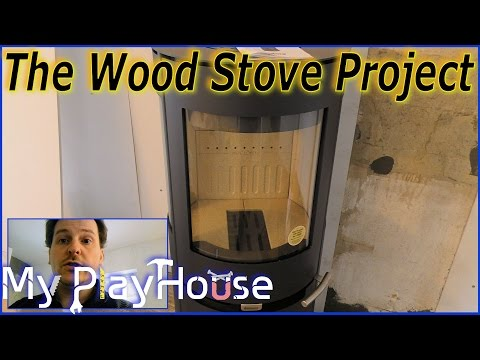 Fiber Drywall completed, and Tile Grouting on The Wood Stove Project - 355