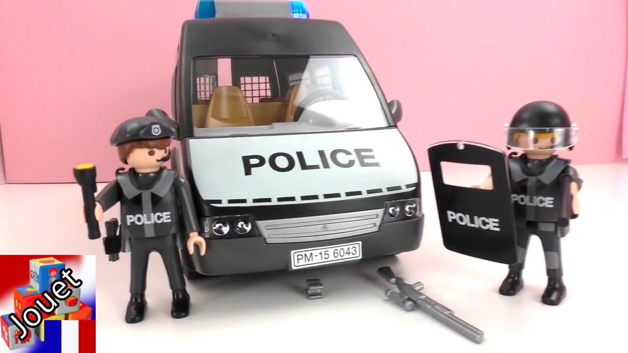 playmobil police francais le d ploiement de la police playmobil le fourgon de police youtube. Black Bedroom Furniture Sets. Home Design Ideas