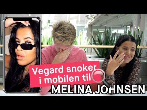 Vegard Harm snoker i mobilen til «Ex on the Beach»-Melina