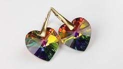 c316d2e79e7f91 Biżuteria Pozłacana - kolczyki z kryształów Swarovski