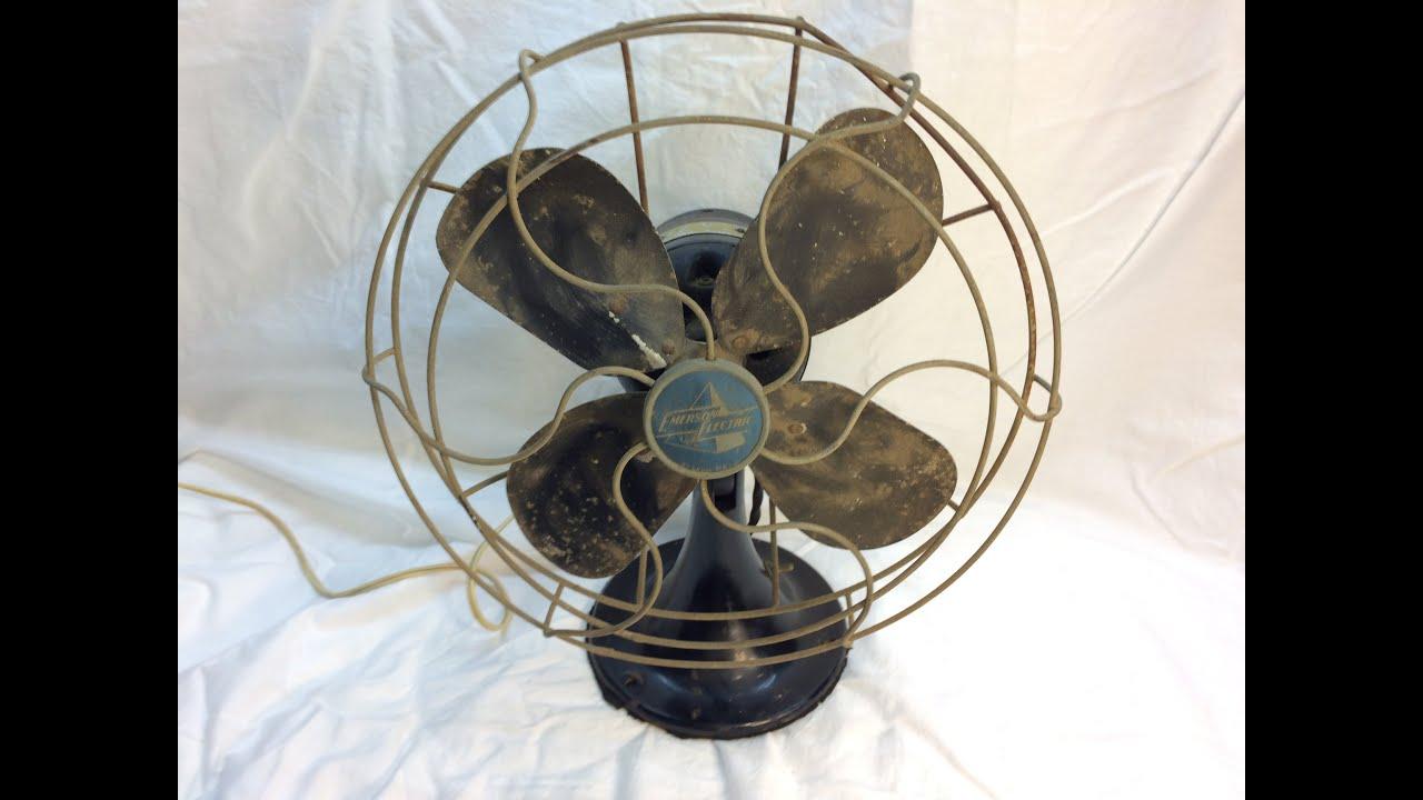 Emerson Desk Fan : Emerson desk fan restoration part ii disassembly