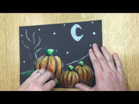 Kids Art Project: Pumpkin Patch Landscape