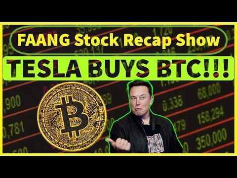 FAANG + MSFT + Tesla Stock Analysis - Elon Musk BUYS BITCOIN!!!