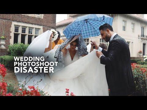 Photographer's Worst Nightmare: HUGE Rain Storm Hits My Wedding Day Photoshoot thumbnail