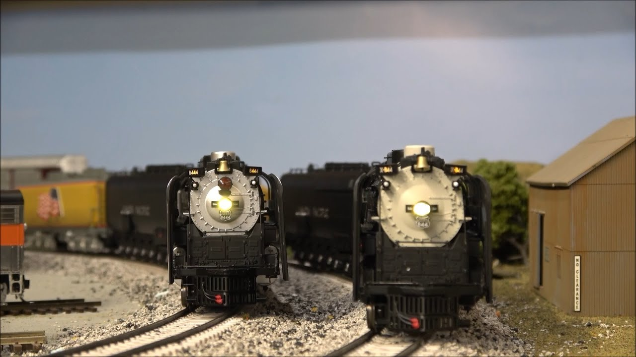 Review: Athearn FEF UP 844 & 8444 w/ESU LOKSound! Union Pacific's 4-8-4  Steam Locomotive HO
