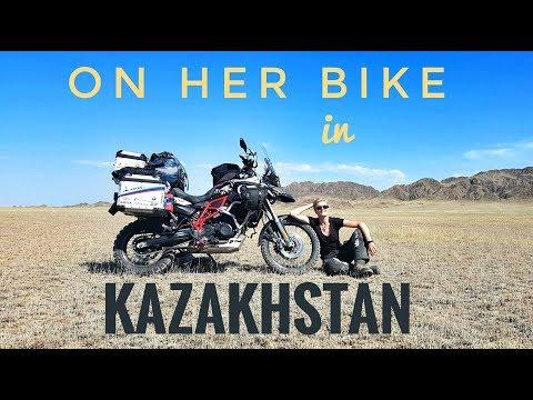 Kazakhstan. On Her Bike Around the World. Episode 5
