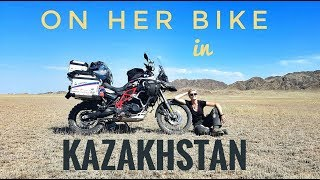 Kazakhstan. On Her Bike Around the World. Episode 5