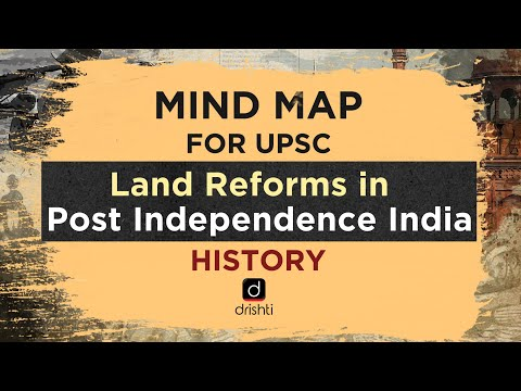 MindMaps for UPSC - Land Reforms in Post Independence India (History)