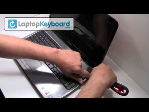 Dell Inspiron Laptop Keyboard Installation Replacement Guide - Remove Replace Install 15R N5010