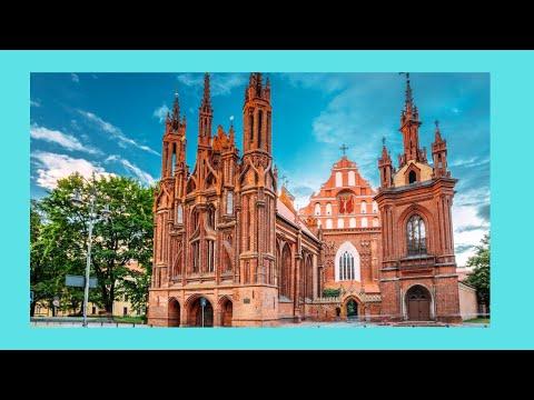Inside historic St. Anne' s church, Vilnius (Lithuania ...