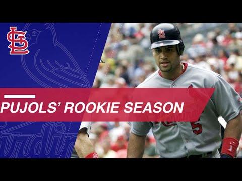 A look back at Pujols' historic 2001 rookie season