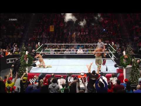 John Cena vs. Alberto Del Rio - Miracle on 34th Street Fight: Raw, Dec. 24, 2012