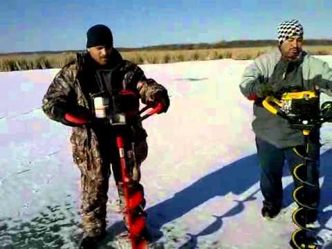 Jiffy Pro Propane Ice Auger vs. Eskimo Mako