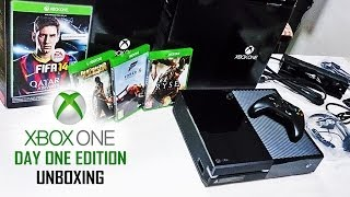 XBOX ONE Day 1 Edition (EU) Unboxing - Forza Motorsport 5, Fifa 14, Ryse, Dead Rising 3 - HD 1080P