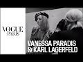 When Vanessa Paradis meets Karl Lagerfeld | VOGUE PARIS