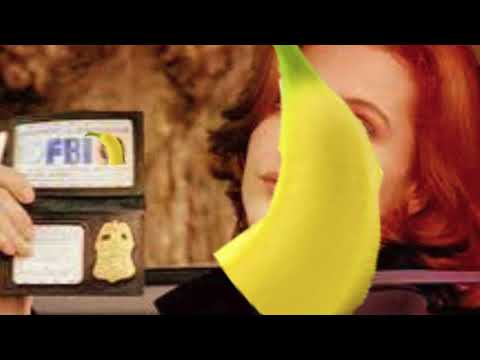X files theme recorder and banana
