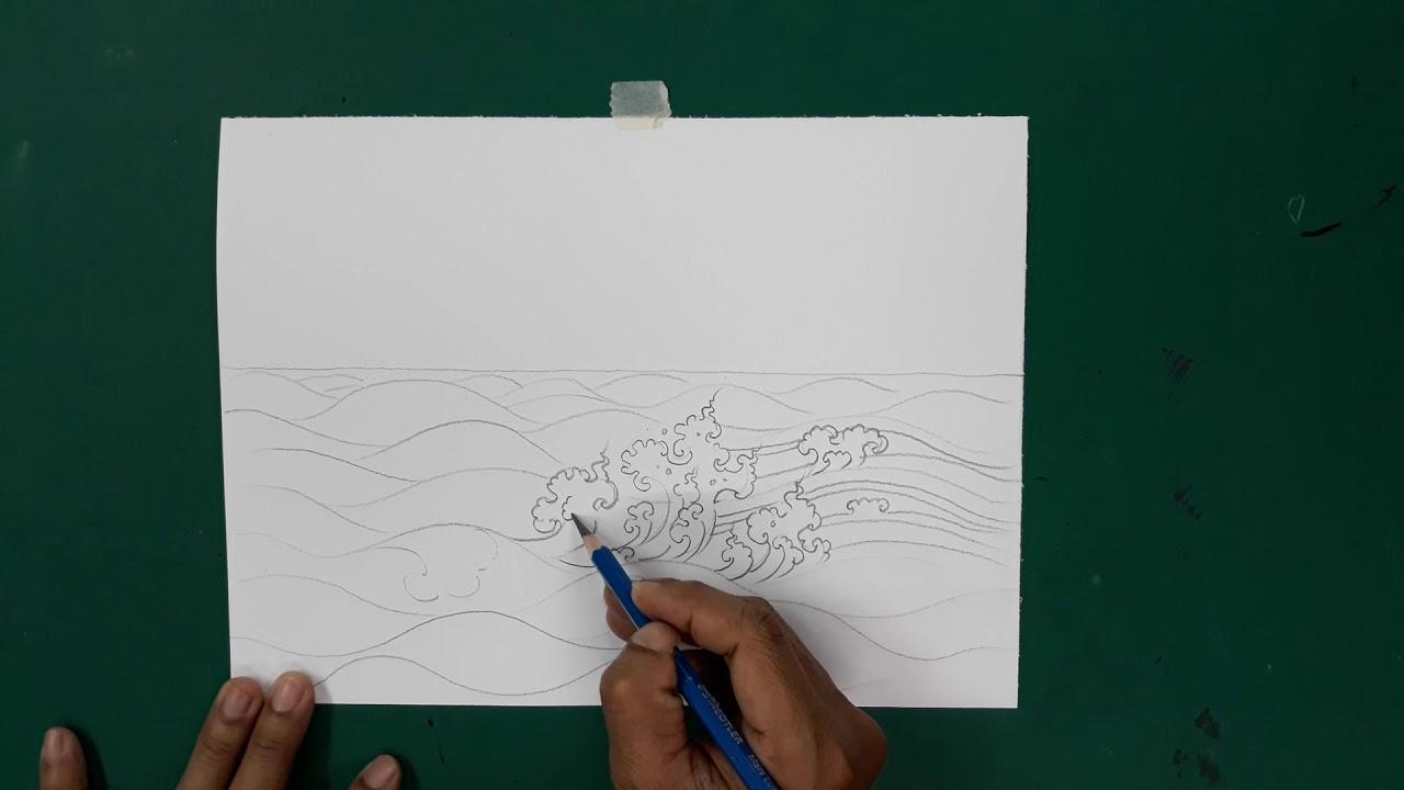 สอนวาดเส้นลายน้ำแบบลายไทย ง่ายๆทำตามได้โดยครูโย่กับน้องปันปันนักพากย์ตัวน้อย