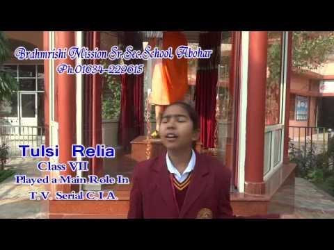 Tulsi Relia student of Brahmrishi Mission Sr. Sec. School, Abohar